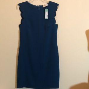 NWT Everly Teal Green Fran Scallop Edge Dress